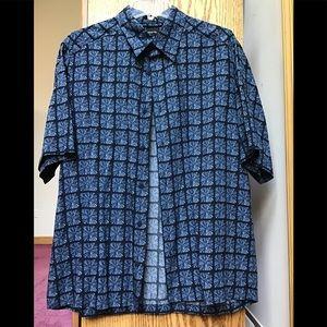 Claiborne men's short sleeve button down shirt szL